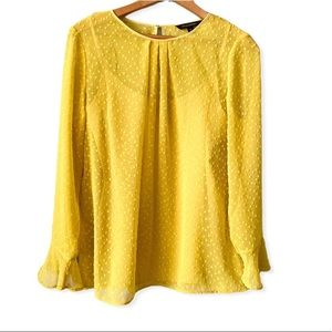 Banana Republic Yellow Blouse with Cami Small